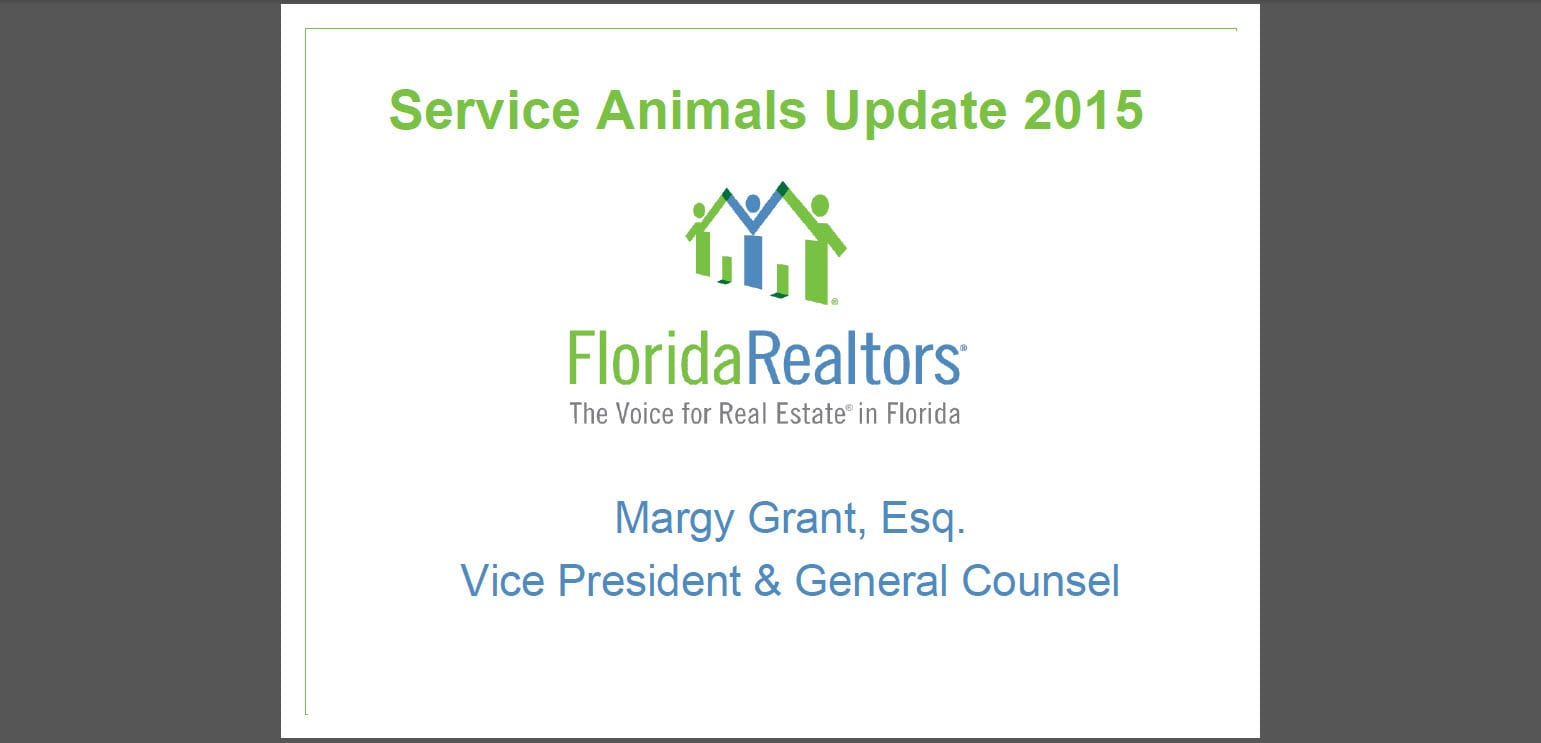 Florida Realtors service animals