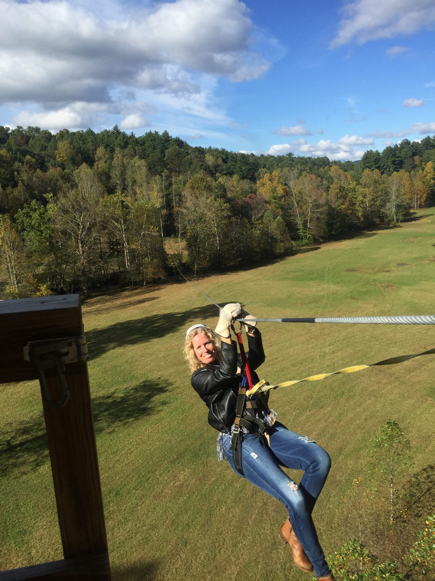 tanya chappell Ziplining near Red Top Mountain, GA